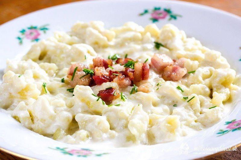 Món ăn Bryndzové Halušky