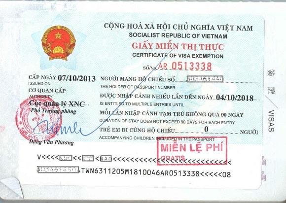 5 year Vietnam visa