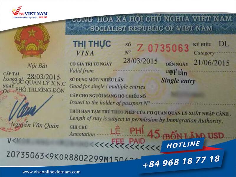 3 months single and 3 months multiple Vietnam visa