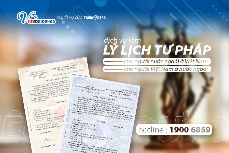 Thủ tục cấp lý lịch tư pháp cho người Việt Nam ở nước ngoài